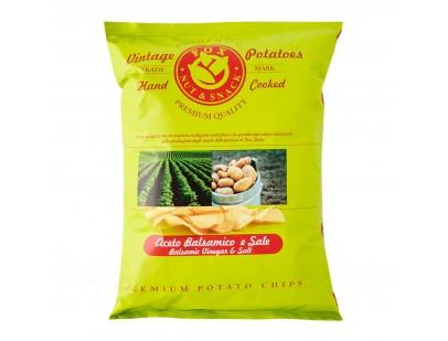 Fox Italia Hand Cooked Balsamic Vinegar and Sea Salt Potato Chips 40g